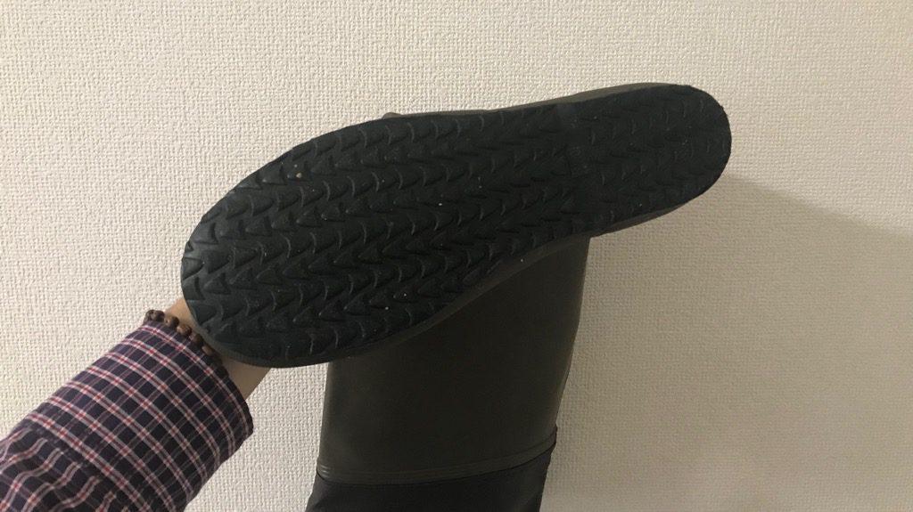 アルバートルポケッタブルレインシューズの靴底