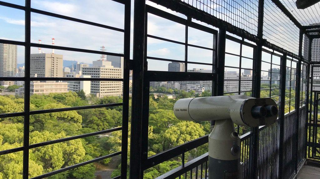 広島城天守からの眺め