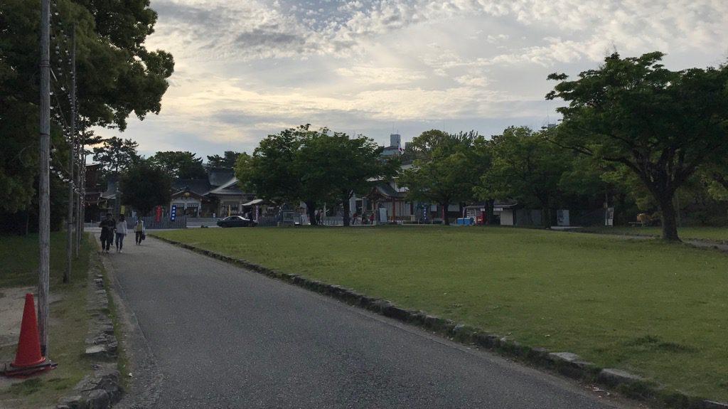 広島城本丸下段
