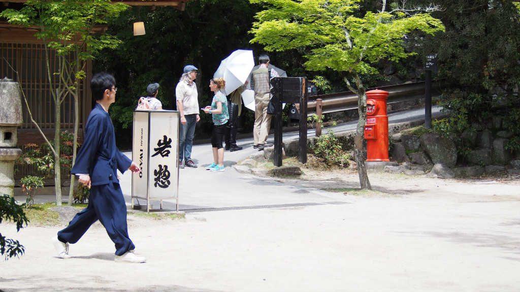 宿泊処「岩惣」近くの小路