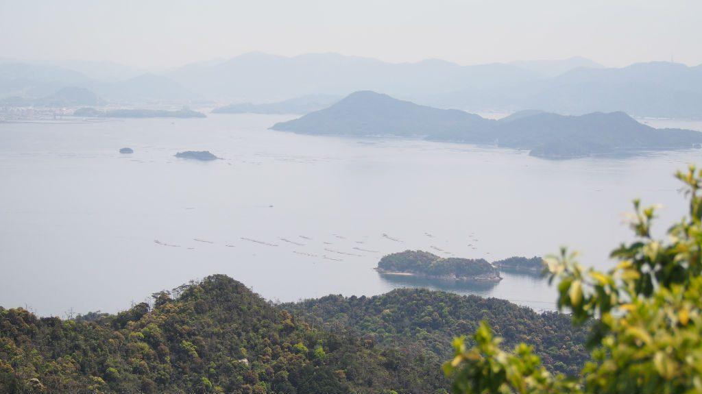 宮島「弥山」獅子岩駅からの眺め
