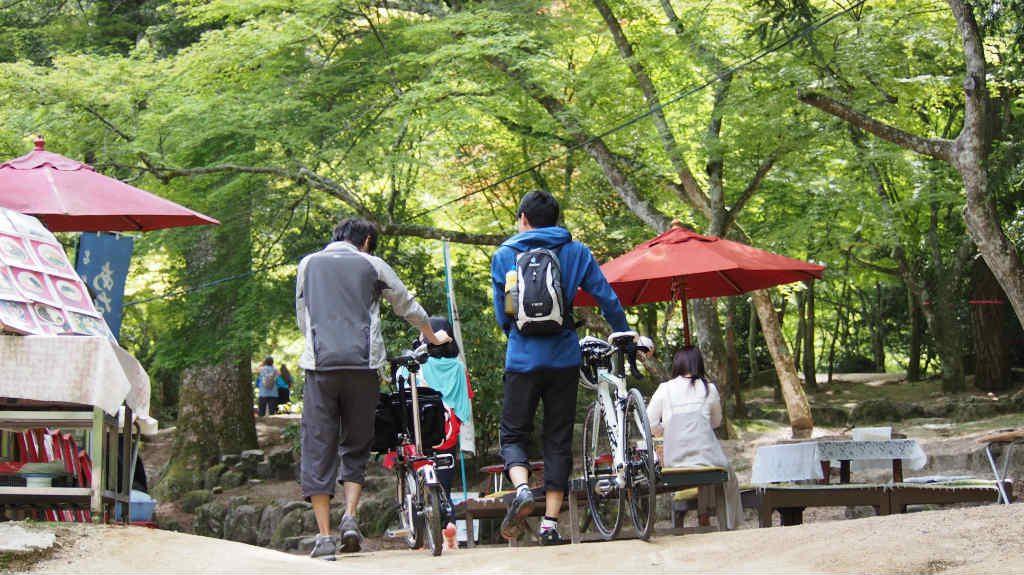 宮島紅葉谷公園。食事処もあります