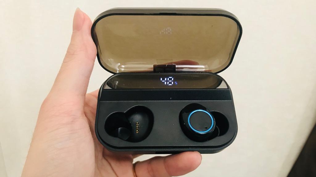 Wewowの完全分離型Bluetoothイヤホンの外観・サイズ